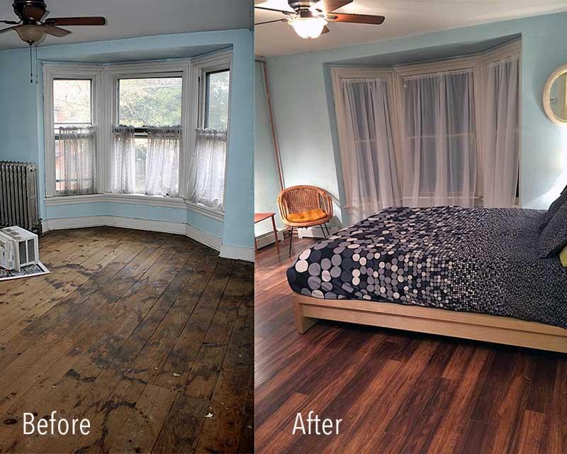 Renovation inspiration tour de thrift for Bedroom renovation inspiration