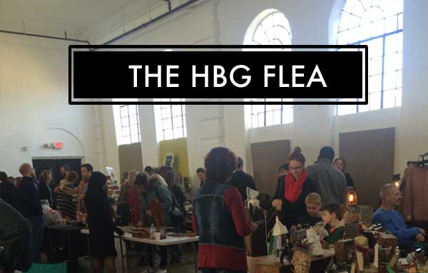 people shopping at the HBG Flea