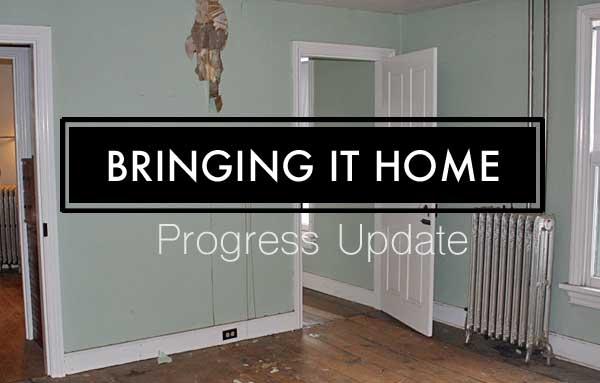 Brining it home progress report