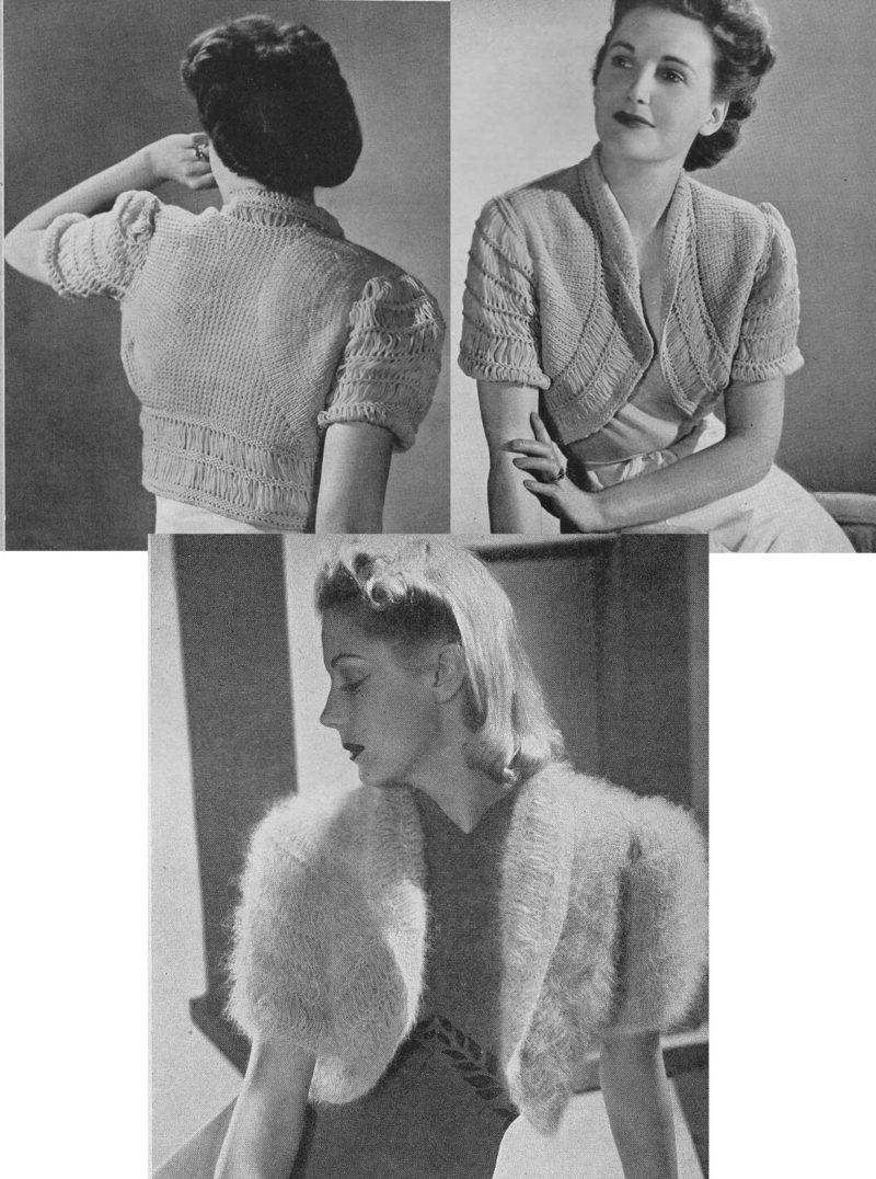 f5f32504a957 FREE Vintage Bolero Jackets PDF Knitting Patterns - Tour de Thrift